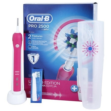 oral b 2500 cepillo de dientes 0 W, 1 Liter, 0 Decibeles, Rosa: Amazon.es: Hogar