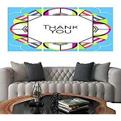 Modern Flowers PaintingThank you greeting card thanksgiving design Abstract geometric elements Layout template card invitation brochure flyer cover Elegant frame and geometrical linear pattern backg