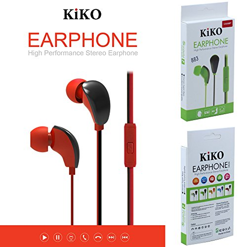 Wholesale Lot of Earphones, 38 Packs 3.5mm Earphone With Microphone Bass Stereo In-Ear Earpod Headphone Headset For iPhone iPad Android Phones Windows Phone MP3 MP4 PC and Tablets (Red) by KIKO Wireless