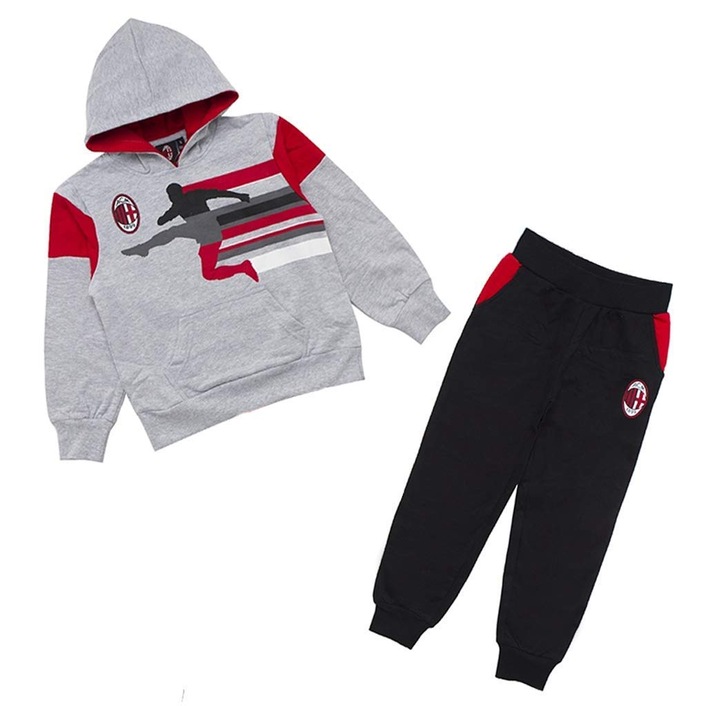 Tuta Felpata Bambino AC Milan con Cappuccio PS 28374 Sport e tempo ...