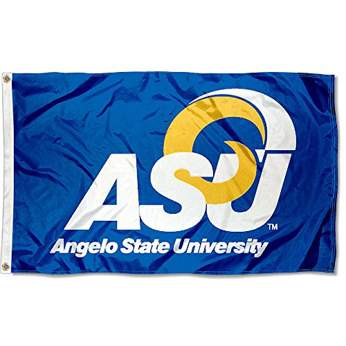 Angelo State Rams ASU University Large College Flag by College Flags and Banners Co.