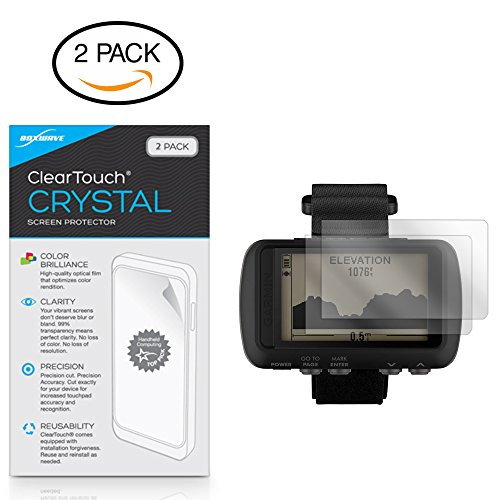 Garmin Foretrex 601 Screen Protector, BoxWave [ClearTouch Crystal (2-Pack)] HD Film Skin - Shields from Scratches for Garmin Foretrex 601