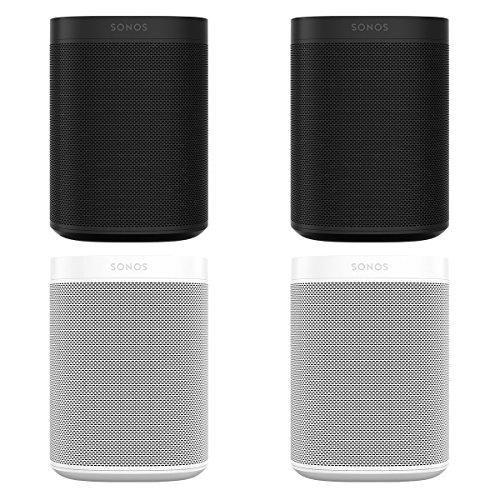 Sonos ONE Multi-Room Digital Music System Package – Set of 4 (Black/White)