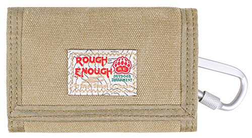 Rough Enough Small Minimalist Men Women Canvas Card Front Pocket Wallet Cases Holder Coin Purse Organizer Bag with Zipper Pockets for Boy Girl Kids Adult School Outdoor Sport Casual