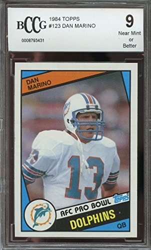 1984 topps #123 DAN MARINO miami dolphins rookie card BGS BCCG 9 Graded Card from Topps