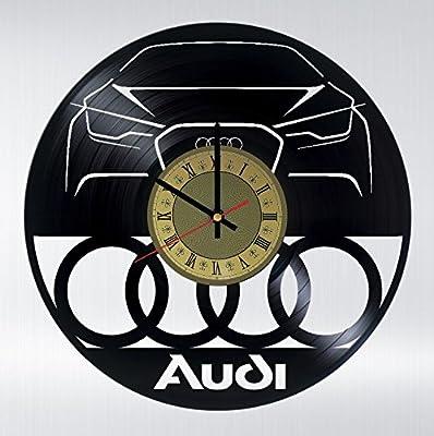 Amazon.com: Coche Automóvil Audi discos de vinilo reloj de ...