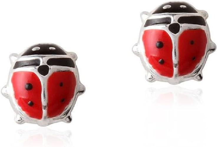 Boucles d/'oreilles en argent 925 en forme de papillon avec fermoir /à vis pour b/éb/é et petite fille Rose 7/x 4/mm