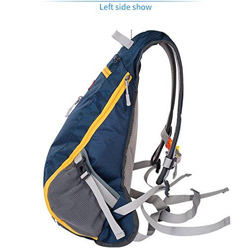 da Borsa sportiva Blue da Colore QI piedi viaggio Borsa e da viaggio alpinismo DEI alpinismo percorrere da Navy da a leggera Arancia facile da zaino trasportare FUxwBv