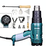 Heat Gun Variable Temperature, Hot Air Gun 122°F - 1220°F with 5 Nozzle Attachments for Stripping Paint, Shrinking PVC/Wrap, Cell Phone Repairs (2000W (LCD Display))