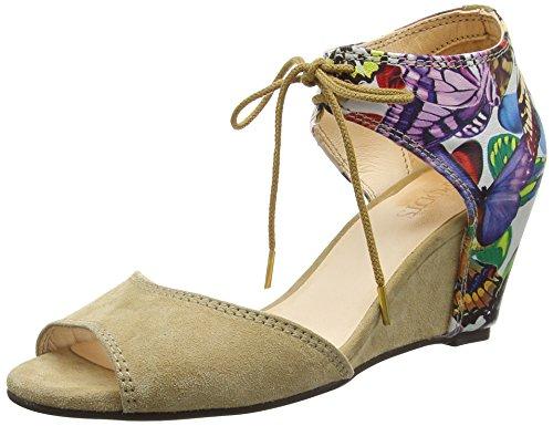 TAPODTS Chloe 1 - Sandalias de cuña Mujer Multicolor