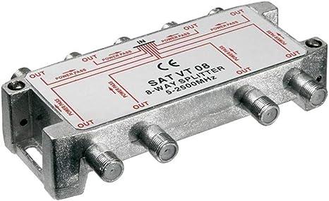 4-fach Sat-Verteiler 100dB 5-2500 MHz digital-tauglich