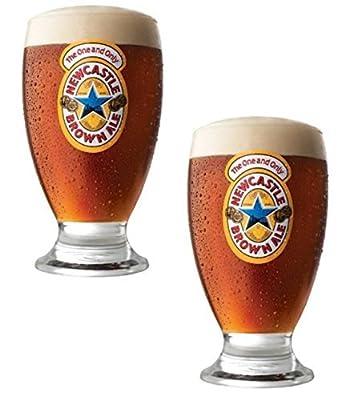Newcastle Geordie Schooner Glass   New Set of 2 Glasses