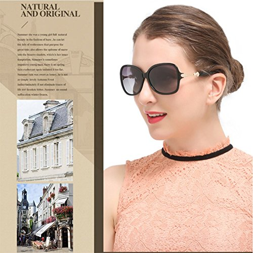 Conducir Sunglasses Black Aviator Travel para Beach Fashion Fashion Black Protegido Women Polarized De UV Metal 400 Marco ZDQ aPqgE6q