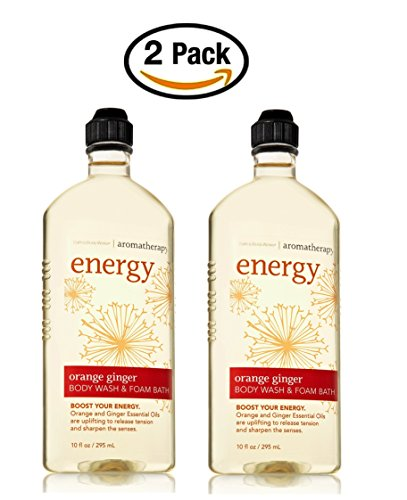Aromatherapy Ginger Body Wash - Set of 2 Bath and Body Works Aromatherapy Orange Ginger Original Version Body Wash Foam Bath 10 Ounce Each No Longer In Stores