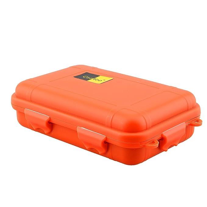 Naranja GOTOTOP Caja de Almacenamiento de Supervivencia Impermeable al Aire Libre Contenedor Case DH para Pesca en Camping