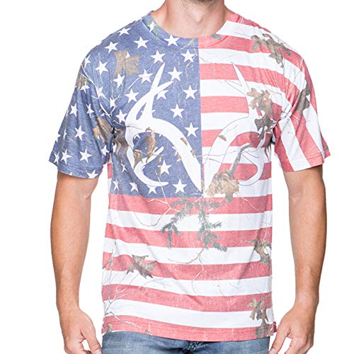 Men's Realtree Independence Shirt (3X-Large) Camo (Realtree Flag)