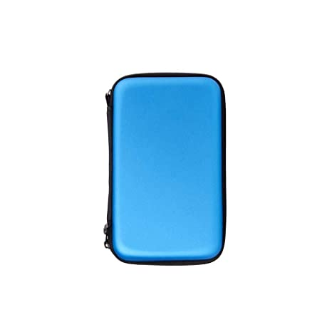 1pcs Nintendo 3DS XL Funda con 8 Soportes de Juego (Azul), HONGFA Carcasa rígida de Repuesto para Nintendo New 3DS XL, New 3DS, 3DS XL, Malla Bolsa de ...