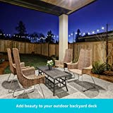 Holiday Styling: String Light Poles for Deck