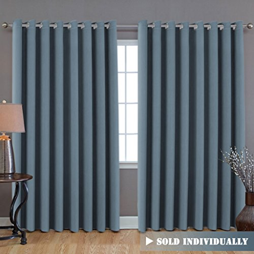 Premium Room Divider (Nobody Can See Through, 9' Tall x 8.5' Wide), Blackout Curtain Panels, Extra Long and Wide Thermal Insulated Patio Curtains -100