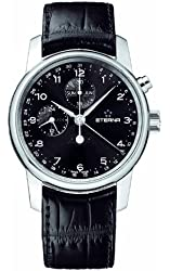 Eterna Men's 8340.41.44.1175 Soleure Stainless steel Moon Phase Chronograph Watch
