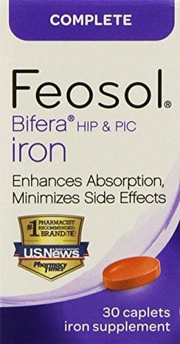 Cheap Feosol Complete with Bifera 30 Caplets (2 Pack)