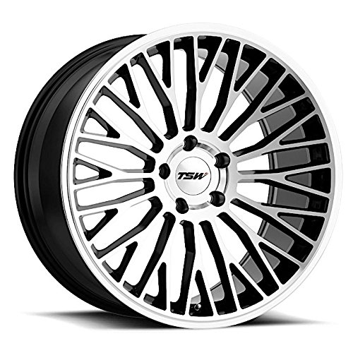 TSW Casino Wheel Rim Gloss Black W/Mirror Cut Face 19x8.5 5x108 (Wheels Rims Casino)