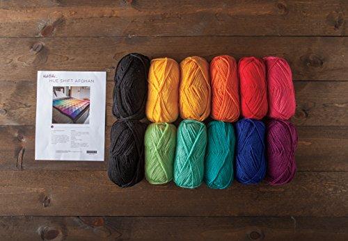 Knit Picks Hue Shift Afghan Knitting Pattern Kit (Rainbow) by KnitPicks