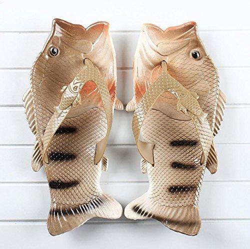 Design 42 Divertente Casuale Sandali Estate Donne Del Forma Pantofola Creativo Spiaggia Open Per SHANGXIAN 43 Brown Infradito Unico Scarpe La Pesce Moda Toe Blue 1SqInwP
