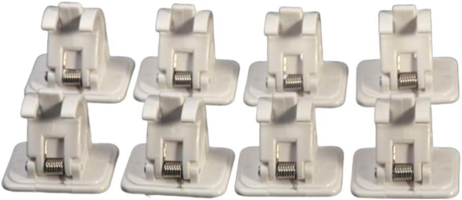 2//8 unidades autoadhesivo Zchui soporte para cortina soporte de pared y soporte para varillas Soporte para barra de cortina