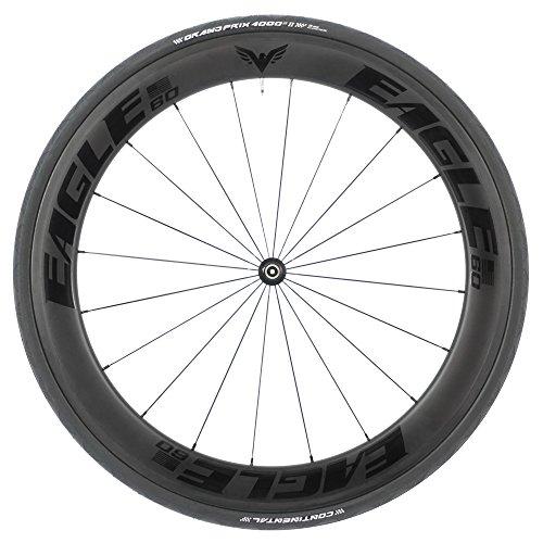 Eagle Lightweight 60/60 Carbon Fiber Clincher Black Wheels for Road/Triathlon Cycling - DT Swiss 240 Hubs - Free GP4000 Tires