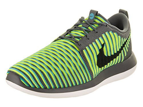 Nike Mens Roshe Due Scarpe Da Corsa Flyknit Grigio Scuro / Nero / Gamma Blu / Volt