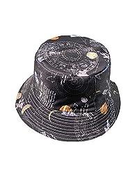 ZSAIMD Plegable al Aire Libre a Prueba de Sol de Doble Cara Casquillo del Pescador Sombrero Unisex de la Manera del Sombrero del Visera de Harajuku Cuenca Sombreros de Sun Bordado Casual
