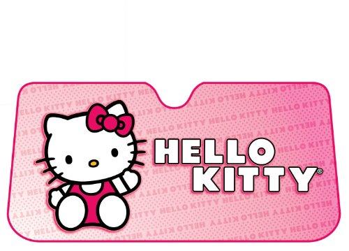 Hello Kitty Car Sunshade - Plasticolor 003681R01 Accordion-Style 'Hello Kitty' Windshield Sunshade