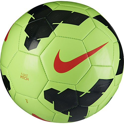 Nike Pitch Soccer Ball Green/Black/Red Size Size Five Ball