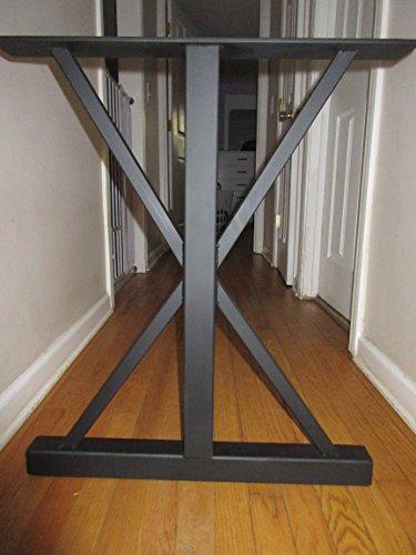 Metal Table Base,Trestle Style,Handmade In U.S. (Desk Trestle Style)