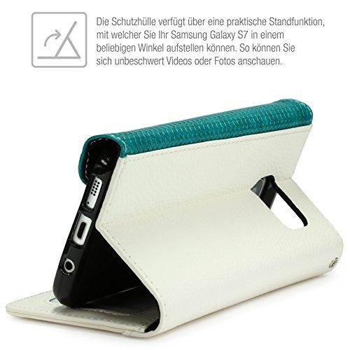 S7 Galaxy Housse Pochette Portefeuille en Chic Un Urcover Tout Samsung OU0nxxq