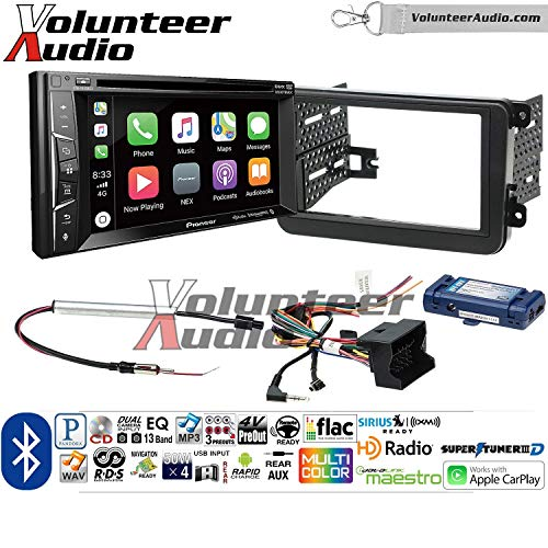 Price comparison product image Pioneer AVH-1440NEX Double Din Radio Install Kit with Apple CarPlay,  Bluetooth,  HD Radio Fits 2012-2014 Volkswagen Beetle,  2010-2014 Golf,  2006-2015 Jetta