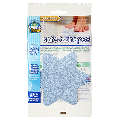 Compac Select Safe-T-Shapes Bathtub Decals, Blue Star, 14 ()