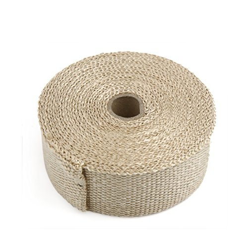Fan Insulation Motor (uxcell 10m Copper Tone Woven Cloth Car Motorcycle Exhaust Pipe Heat Insulation Wrap)