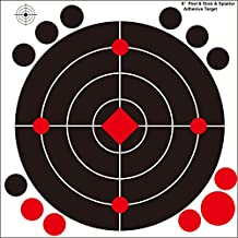 "6"" Splatter targets sticker label - Instantly See Your Shots Burst Bright Fluorescent Yellow Upon Impact - Great for all firearms, AirSoft, BB and Pellet guns! (Pack of 50"")"