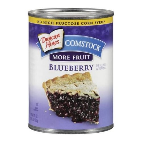 Comstock Blueberry More Fruit Filling, 2 Can -- 12 Case