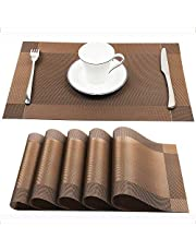 PVC Placemats, Stain Heat Resistant Table Mats Non-slip Environmental Protection Fashion Dining Mat Machine Wash Placement Set