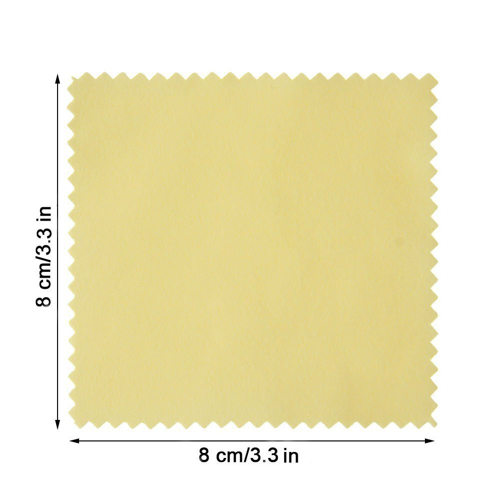 50 Pack Jewelry Polishing Cloth Cleaning Cloth for Sterling Silver Gold Platinum Yellow