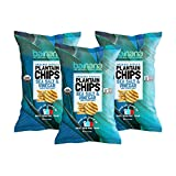 Barnana Organic Plantain Chips - Salt & Vinegar - 5 Ounce, 3 Pack Plantains Salty, Crunchy, Thick Sliced Snack - Best Chip For Your Everyday Life - Cooked in Premium Coconut Oil