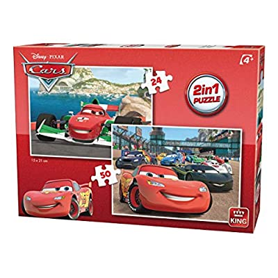 King 5415 Disney 2 In 1 Cars Bambini Puzzle