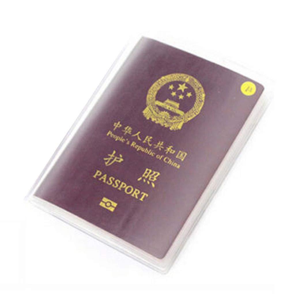 Plzlm 13.5x19cm PVC Transparent Dull Polish Passport Cover ID Effacer Carte Cover Case Sacs de Voyage de Passeport