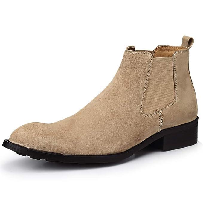 Botas De Hombre Botines Para Gamuza Acentuada Inglaterra Martin Boots Botas Para Chukker De Negocios Casual,Apricot1-39: Amazon.es: Ropa y accesorios