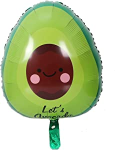 Morndew 2 PCS Mexican Avocado Fruit Foil Balloons for Mexican Food Festival Party Baby Shower Birthday Party Wedding Party Decorations