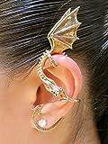 Dragon Ear Wrap Bronze Dragon Ear Cuff Elfin Dragon Ear Wrap Dragon Jewelry Game of Thrones Inspired Jewelry Khalessi Costume Non-Pierced Earring Dragon Jewelry