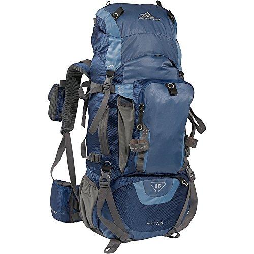 High Sierra Titan 55 Backpacking Pack (Pacific, Altitude, Skyline, Charcoal)